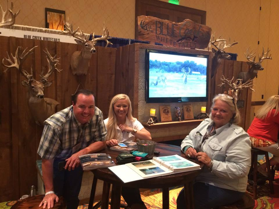Blue Creek Whitetails booth