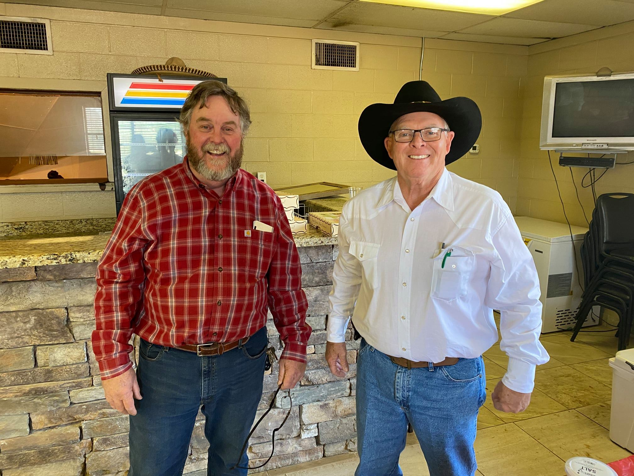 Hired Hand customer Steve Azinger, Lazy A Ranch and Rick Friedrich.