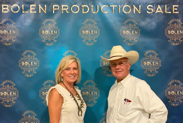 Bolen Production Sale Office Staff Sale Management and Auctioneer Lori and Bruce McCarty.