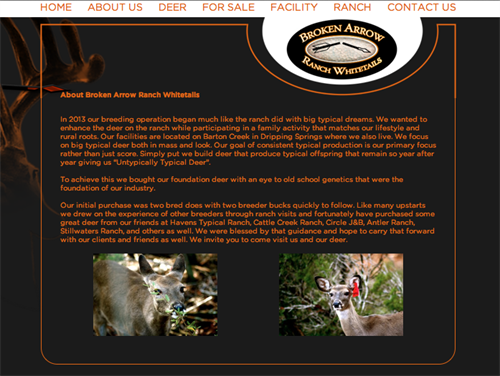 Broken Arrow Ranch Whitetails - About Us