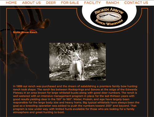 Broken Arrow Ranch Whitetails - home page