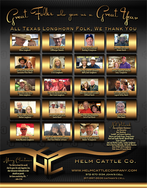 Helm Cattle Co. Thank You ad