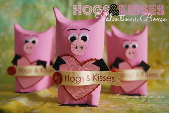 Hogs and kisses Valentine